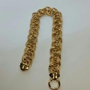 14k solid gold  braided bracelet nwot